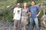 Três dos quatro voluntários participantes neste dia