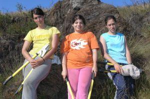 Voluntárias para a foto final