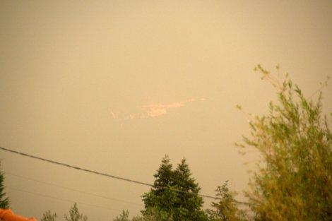 Pelas 8:20h um foco de incêndio apareceu na vertente ocidental do Cabeço