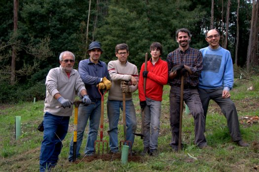 Equipa, na despedida de um dos voluntários