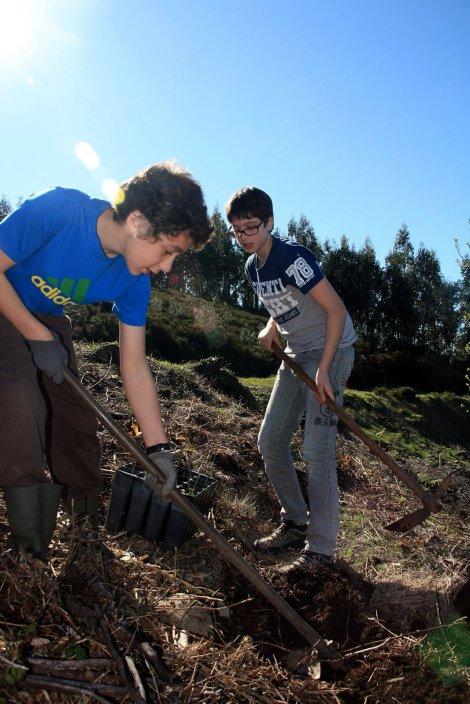 Voluntários em acção