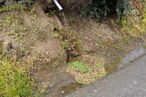 Fonte de água corrente pulverizada