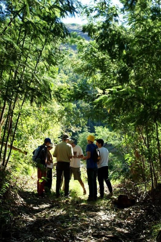 Chegada ao terreno da Quercus nas Bicas de Aguadalte