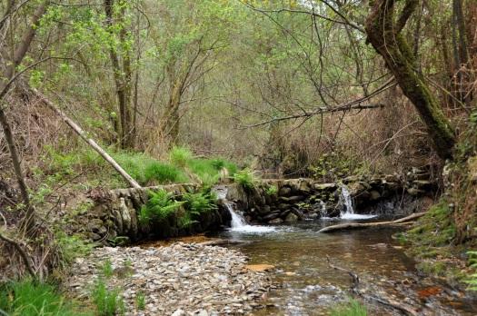 Pequena represa, de onde partia a levada